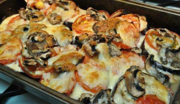 Как приготовить «Баклажаны с сыром и грибами»
