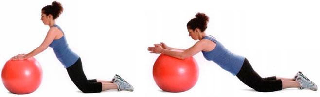 Упражнения для женщин на фитболе