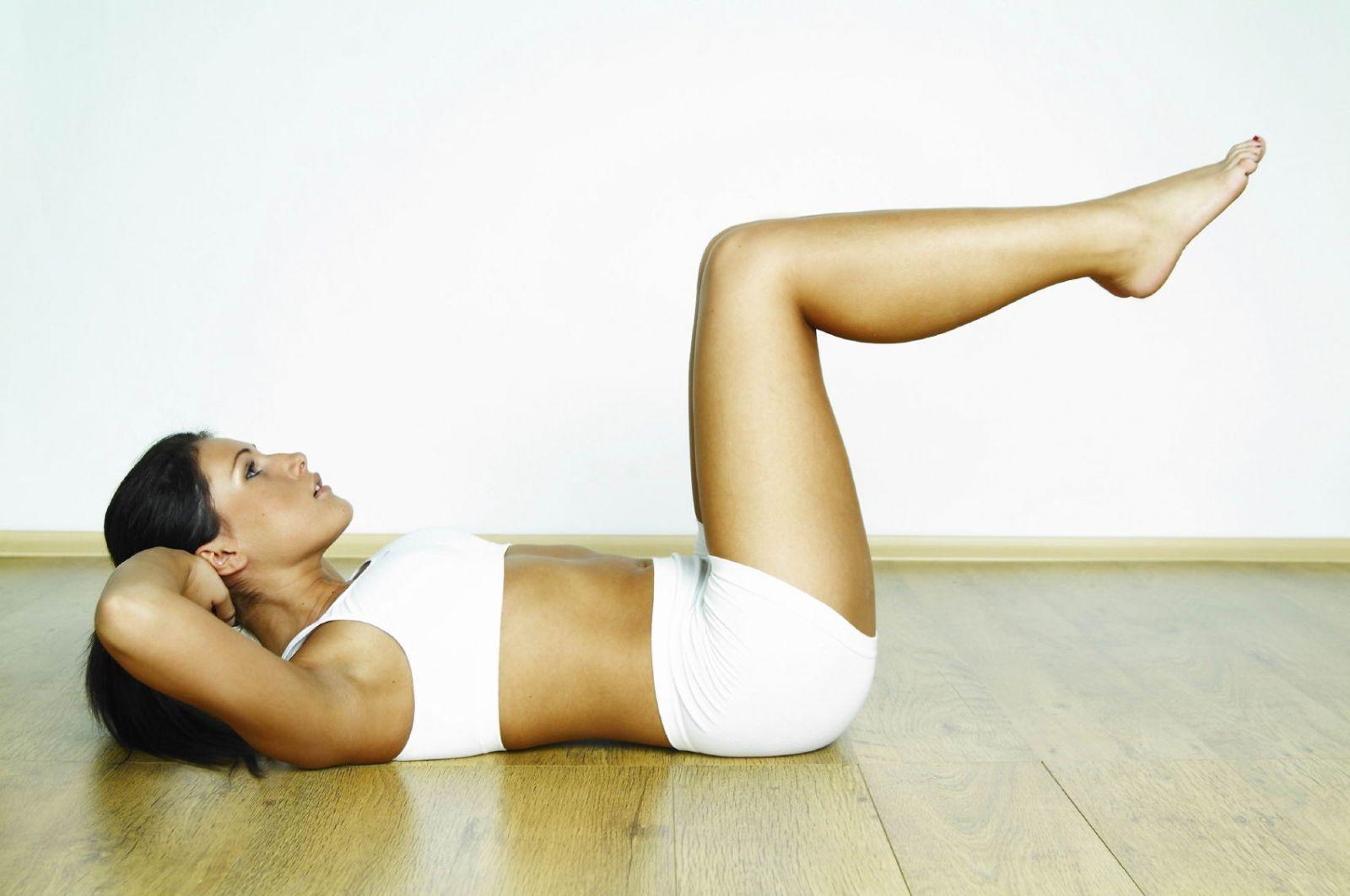 упражнения похудения для живота