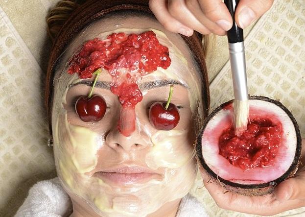 маска для лица из черешни